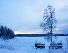 Graningesjön om vintern